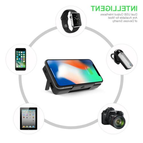 300000mAh Wireless Charger Stand USB LCD