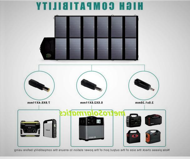 80w foldable solar panel portable battery charger