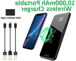 Cellet Portable 10000mAh Wireless Charger Power Bank  2 USB