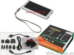 Portable Solar Battery Charger Power Bank Mobile Cell Phone