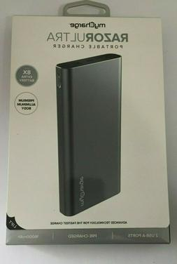 myCharge Razor Ultra Portable Charger 16000mah Silver Rz160g