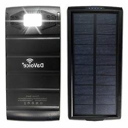 Solar Power Bank Solar Charger, Solar Phone Charger, 20000 m